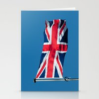 british flag Stationery Cards featuring Flying the British flag by PICSL8