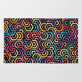 Seamless Colorful Geometric Pattern XXIV Rug