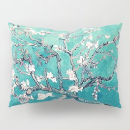Vincent Van Gogh Almond Blossoms Turquoise Pillow Sham