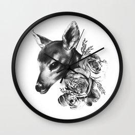 Fawn & Flora II Wall Clock