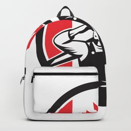 Canadian Construction Worker Canada Flag Icon Backpack