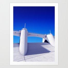 Sepulveda Dam on blue Art Print