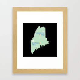 Liberty, ME and Death, ME by Veronica Kraus Framed Art Print
