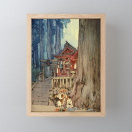 Yoshida Hiroshi - A Misty Day In Nikko - Digital Remastered Edition Framed Mini Art Print