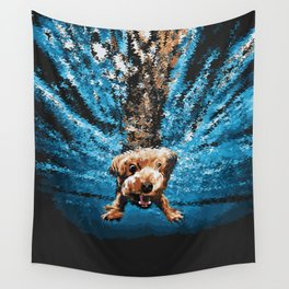 Doggy Plunge Wall Tapestry