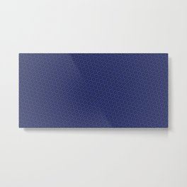 Cool patterns ~ THX 1138 Blue Metal Print