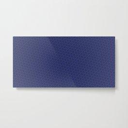 Cool patterns ~ THX 1138 Blue Metal Print