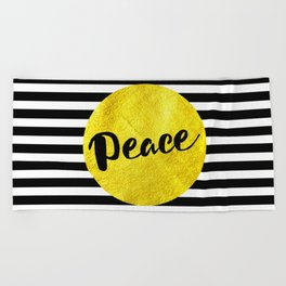 Peace 01 Beach Towel