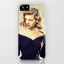 Lauren Bacall, Hollywood Legend iPhone Case