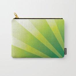 GREEN SUNBURST Abstract Art Carry-All Pouch