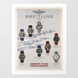 Plakat breitling aerobatic teams limited Art Print