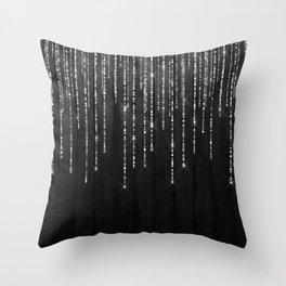 Fairy Lights on Wood 02 Throw Pillow