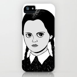 WEDNESDAY ADDAMS - THE ADDAMS FAMILY iPhone Case