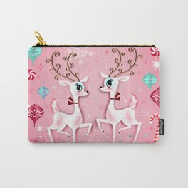 Cute Christmas Reindeer Carry-All Pouch