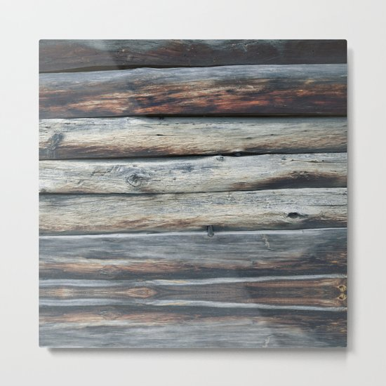 wood 2A Metal Print