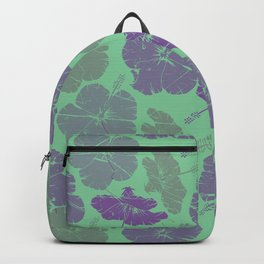 Green flowers Backpack