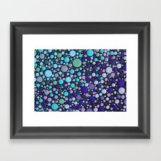 Blue & Purple Contrasts Framed Art Print
