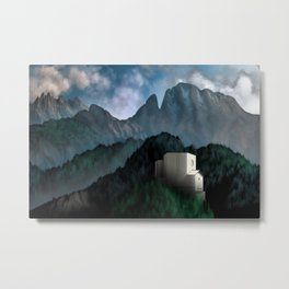 Castle of the Mount Metal Print