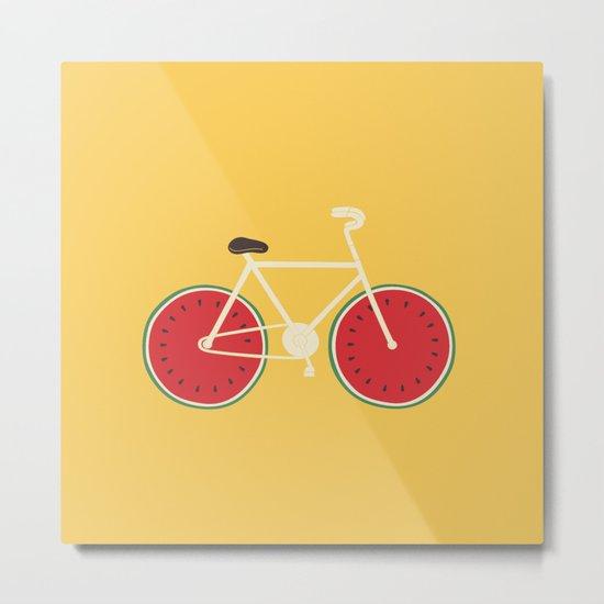 watermelon bike Metal Print