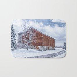 Snowing at the Farm Bath Mat