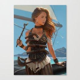 Franceska Drake the black powder pirate Canvas Print