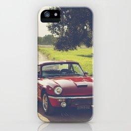 Triumph spitfire, classic english sports car, hasselblad photo iPhone Case