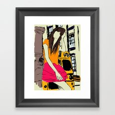 miss the bus Framed Art Print