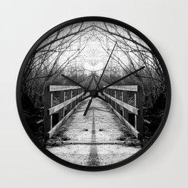 Mirrored Bridge Wall Clock