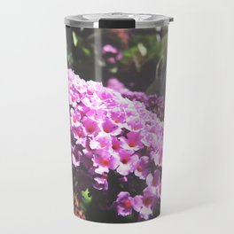 Pink Buddleia Travel Mug