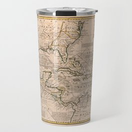 Map of the West Indies by Emanuel Bowen (1720) Travel Mug