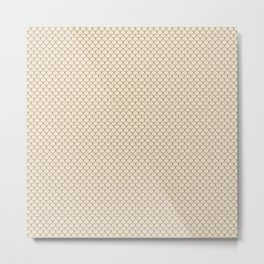 Champagne Brown Scales Pattern Metal Print