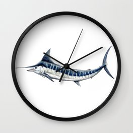 Blue Marlin (Makaira nigricans) Wall Clock