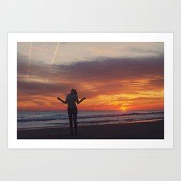 A invincible woman in a invincible summer Art Print