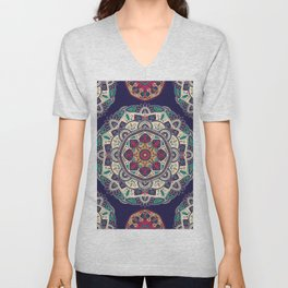 Colorful Mandala Pattern 007 Unisex V-Neck