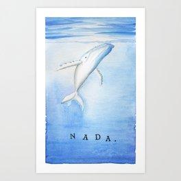 Nada - White Humpback Whale Art Print