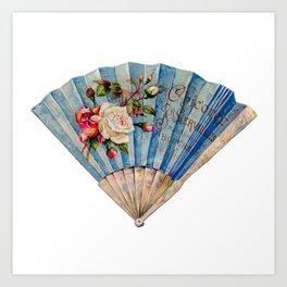 Fan Fancy (blue)   Art Print