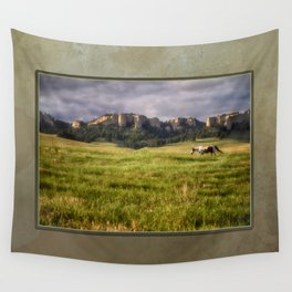 Horse in the Hills Wall Tapestry