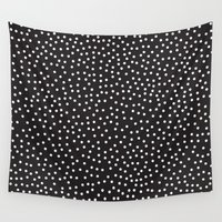 gray Wall Tapestries featuring Dots by Priscila Peress