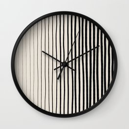 Black Vertical Lines Wall Clock