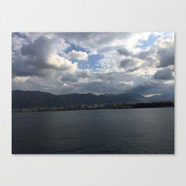sea of palermo / port Canvas Print