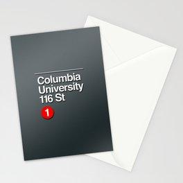 subway columbia university sign Stationery Cards