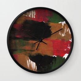 Multicolor watercolor Wall Clock