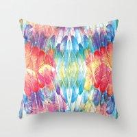 boho Throw Pillows featuring Boho by Marta Olga Klara