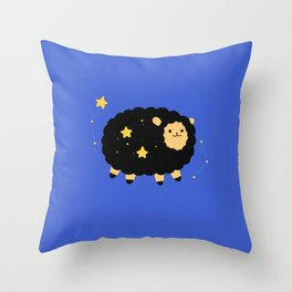 Nightsky sheep Throw Pillow