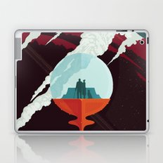 NASA Retro Space Travel Poster #3 - Enceladus Laptop & iPad Skin