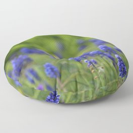 Grape Hyacinth in Spring Floor Pillow