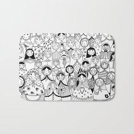 Matrioshka doodle Bath Mat