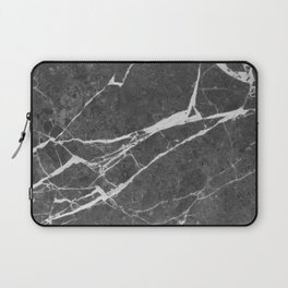 Matte Black Marble Laptop Sleeve