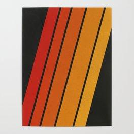 Retro 70s Stripes Poster