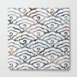 Japanese Cloud Pattern Metal Print